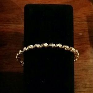18 k over sterling silver s bracelet